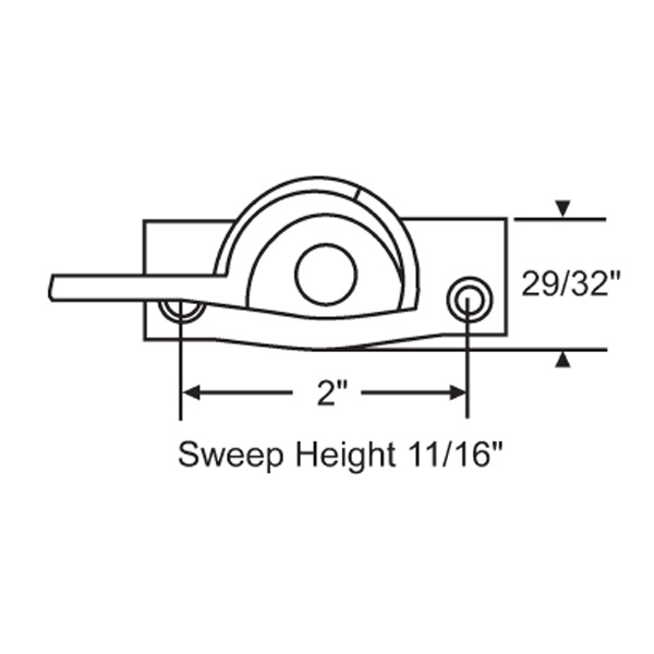 Sweep and Sash lock 50-356-7