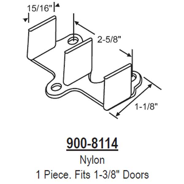 Closet Door Floor Guide 900-8114